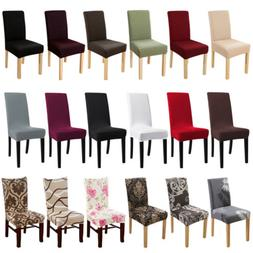 1/4/6Pc Dining Chair Covers Stretch Spandex Jacquard / Velve