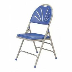 NATIONAL PUBLIC SEATING 1105 Folding Chair ,Plastic,Blue/Gra