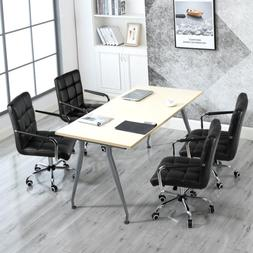 2x Modern Computer Desk Executive Office Chairs Vanity Swive