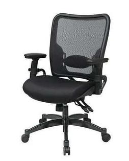 """OFFICE STAR 6806 Managers Chair,Mesh,Black,18-22"""" Seat Ht"""