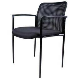 ZORO SELECT 6GNN3 Guest Chair,Mesh Back,Black,33 in.