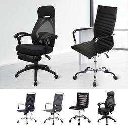 Executive Office Chair High Back PU Leather Computer Desk Se