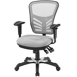 Modway Articulate Ergonomic Mesh Office Chair in Gray