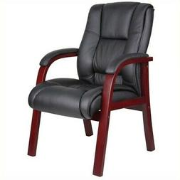 Boss B8999-M Mid Back Wood Finished Guest Chair