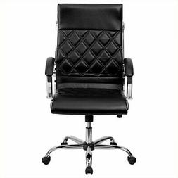 High Back Designer Black Leather Executive Office Chair with