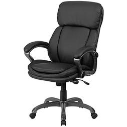 High Back Leather Executive Swivel Chair with Lumbar Support
