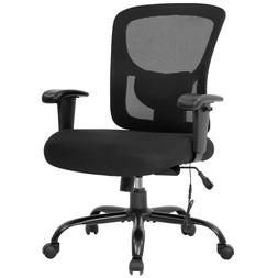 Big and Tall Office Chair 400lbs Wide Seat Mesh Desk Chair M