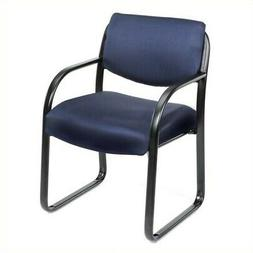Blue Fabric Guest Chair With Lumbar Support