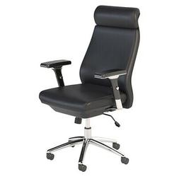 Bush Business Furniture Metropolis High Back Leather Executi