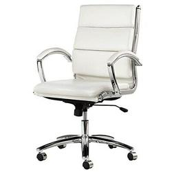 CHAIR,MB,FAUX LTH/CHRM,WH