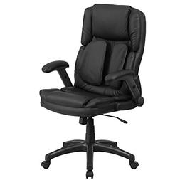 Extreme Comfort High Back Leather Executive Swivel Chair wit
