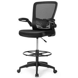 Drafting Chair Tall Office Chair Adjustable Height w/Lumbar
