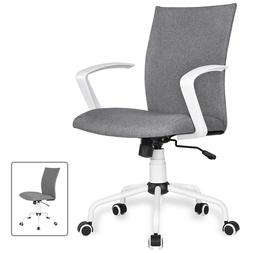 Home Office Swivel Rolling Desk Chair With Removable Arms He