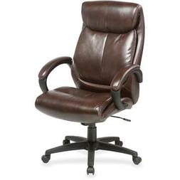 "Lorell Executive Chair - Brown Seat - Brown Back - 28"" Width"