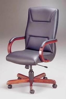 Executive Swivel Chair w Upholstered Arm Caps