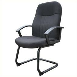 Boss Office Products Color Fabric Guest Chair in Black