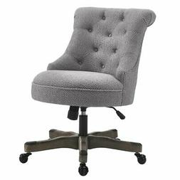 Riverbay Furniture Fabric Office Swivel Chair in Light Gray
