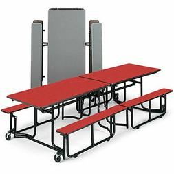 """KI Folding Table with Benches - 12'x29-1/2"""" - Seats 12-16 In"""