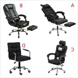 Gaming Chair With Footrest Adjustable Backrest Reclining Lea