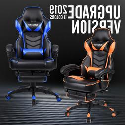 Gaming Racing Chair PU Leather Office Computer Desk Swivel R