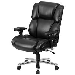 Hercules Series Leather Executive Swivel Chair with Lumbar S