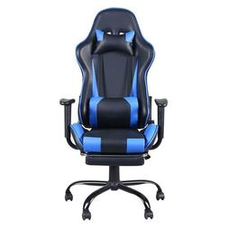 High Back Gaming Chair Ergonomic Racing Recliner Office Foot