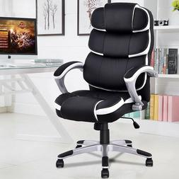 Home Office Chair Ergonomic High Back Black Computer Gaming