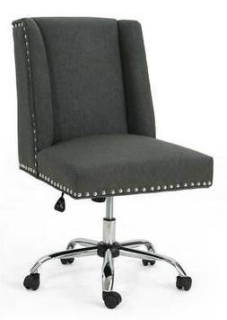 Home Office Fabric Desk Chair in Dark Gray
