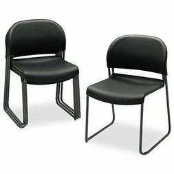 Hon Gueststacker 4031 Armless Guest Chair - Polymer Black Se