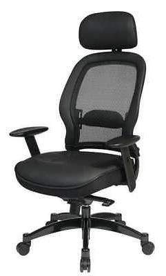 OFFICE STAR 27008 Managers Chair, Series Space Leather Black