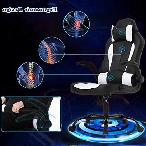 BestMassage Desk Gaming Chair Task Executive Racingchair for BackSupport with Lumbar Support