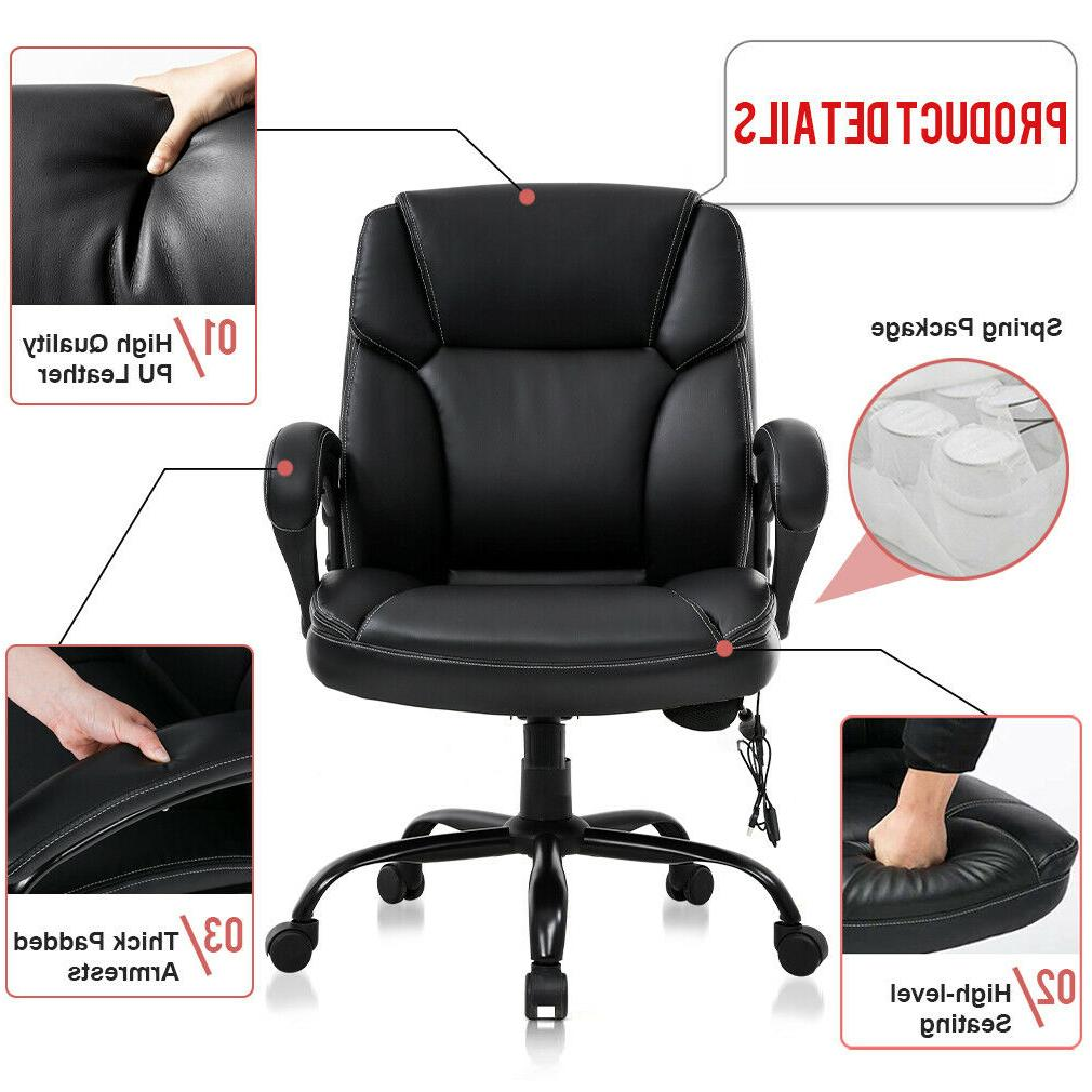Big and Tall Office Chair Wide Seat Ergonomic Desk Computer