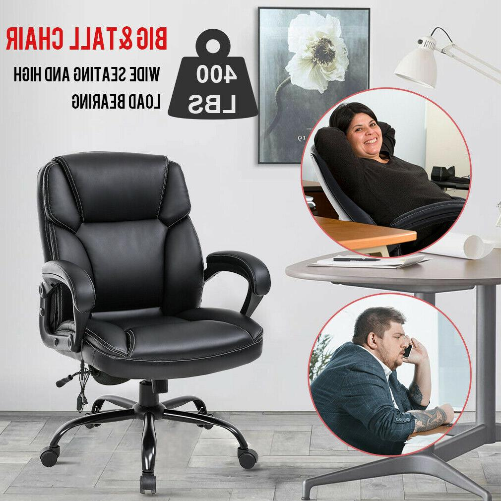 Big and Chair Wide Seat Ergonomic Desk Computer