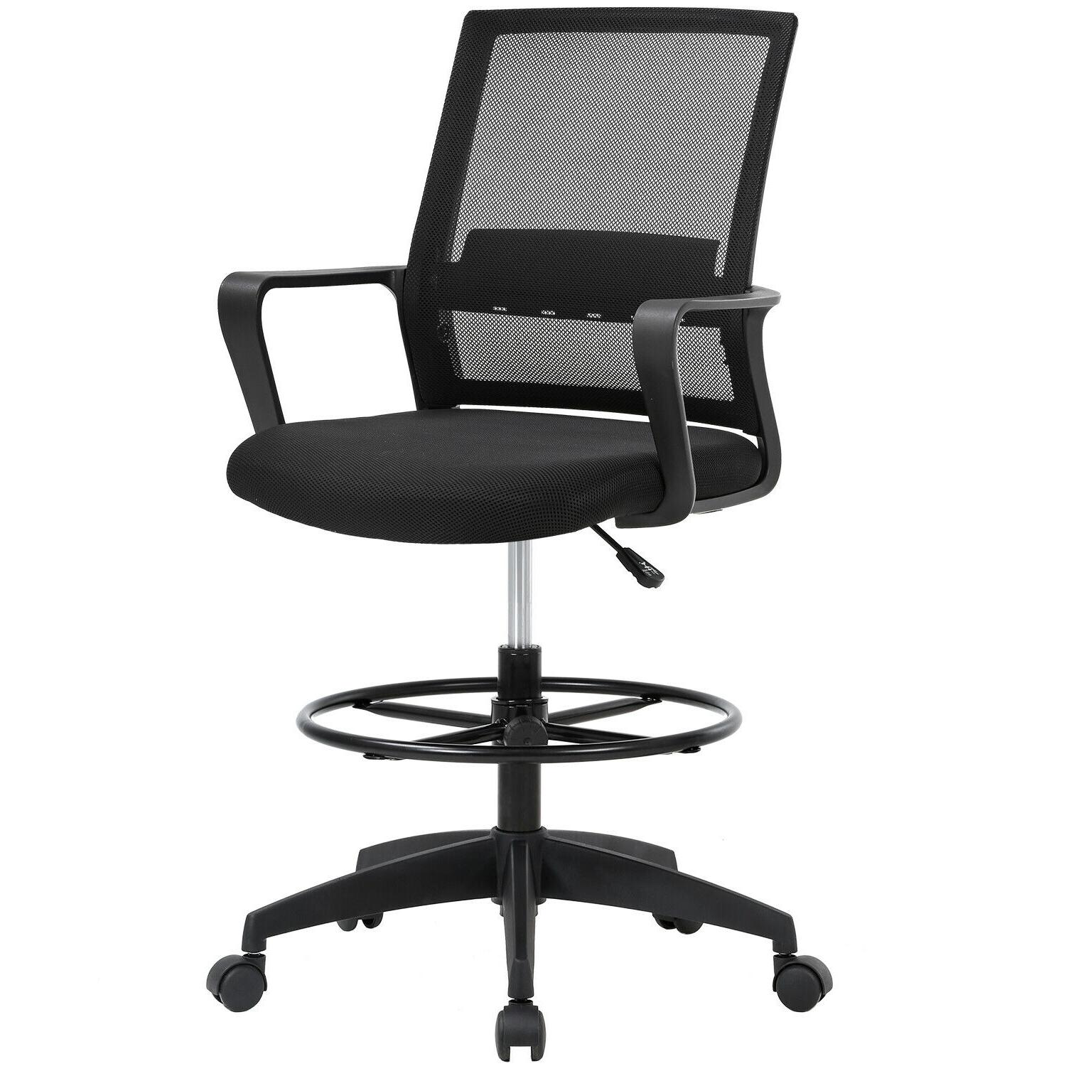 drafting chair tall office chair adjustable height