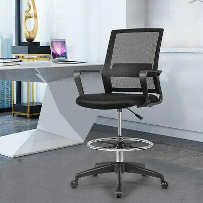 Drafting Tall Office Chair for Standing Adjustable Height