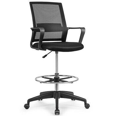 Drafting Tall Chair for Adjustable w/Footrest