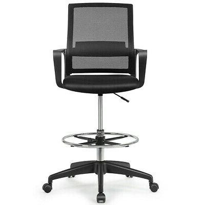 Drafting Chair Adjustable w/Footrest