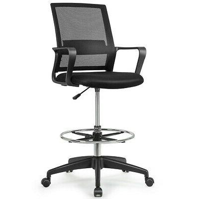 Drafting Tall Chair for Adjustable Height w/Footrest