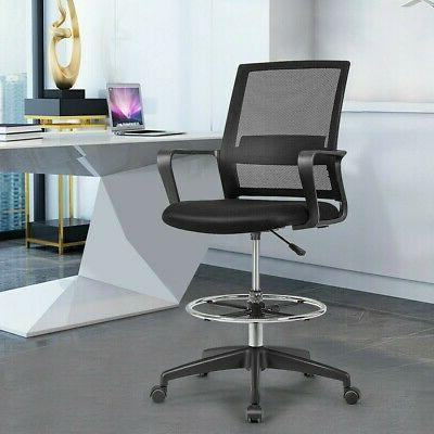 Drafting Chair Tall Office Chair for Standing Desk Adjustabl