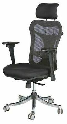 Ergo Ex Executive Office Chair, Mesh Back/Upholstered Seat,