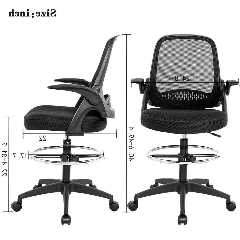 Ergonomic Mesh Drafting with Arms Tall Office