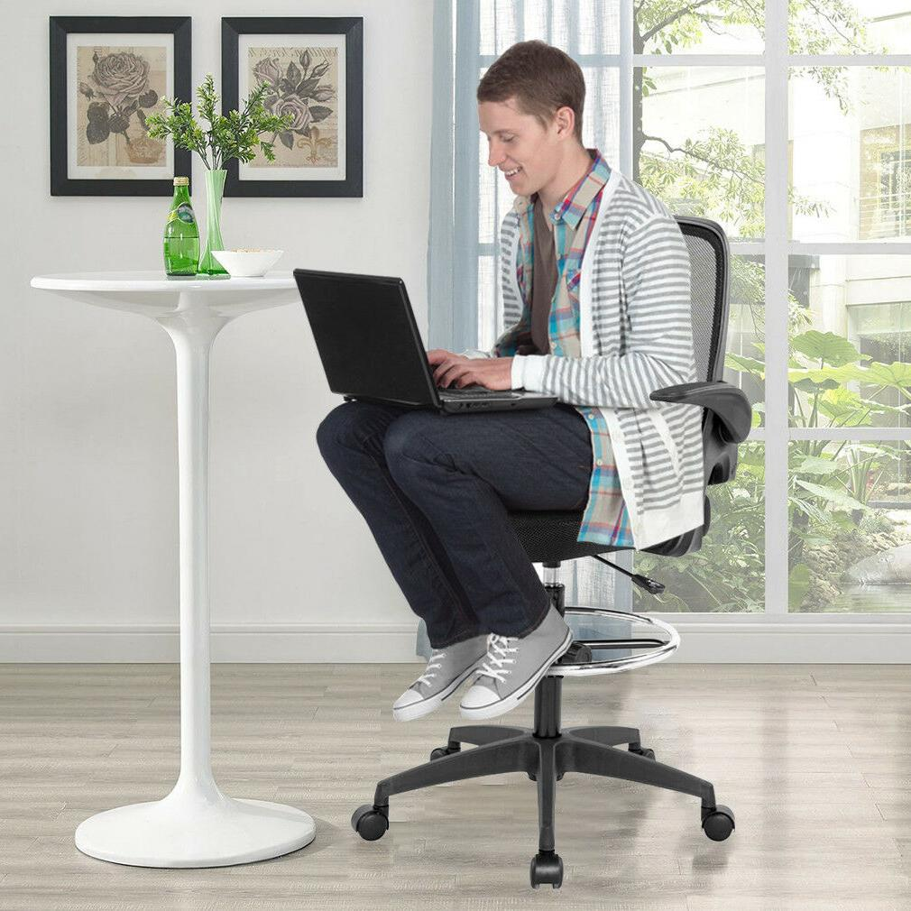 Ergonomic Mesh Drafting with Arms Office
