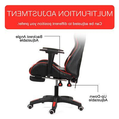 Ergonomic Gaming Office Chair Seat Leather Recliner