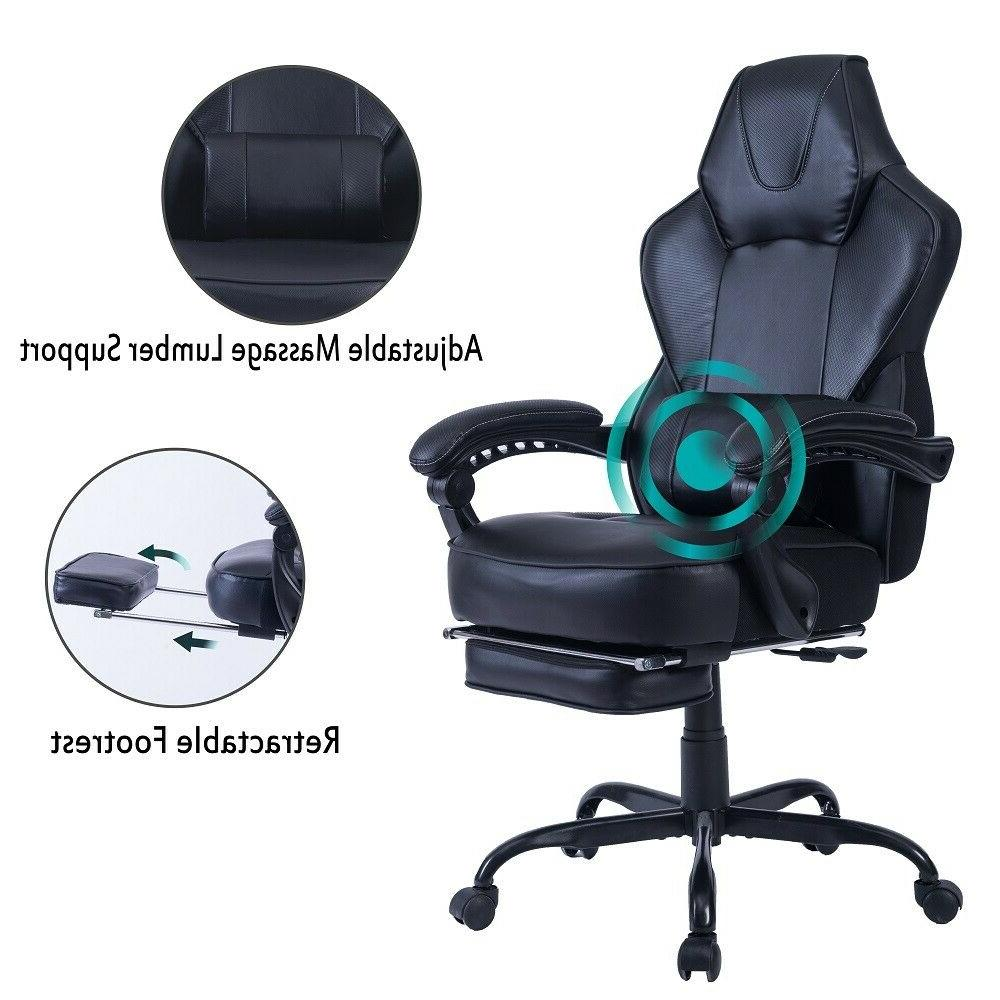 gaming chair computer desk chair with footrest