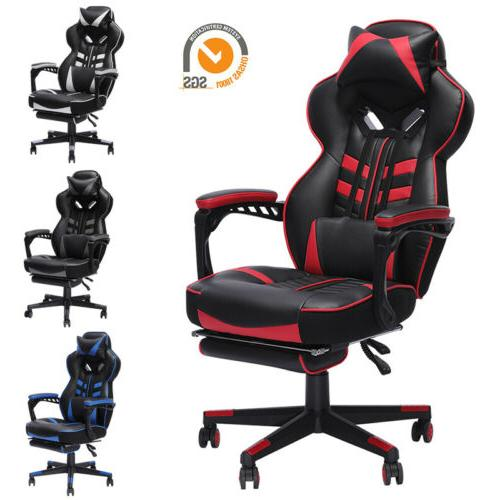gaming chair racing computer leather high back