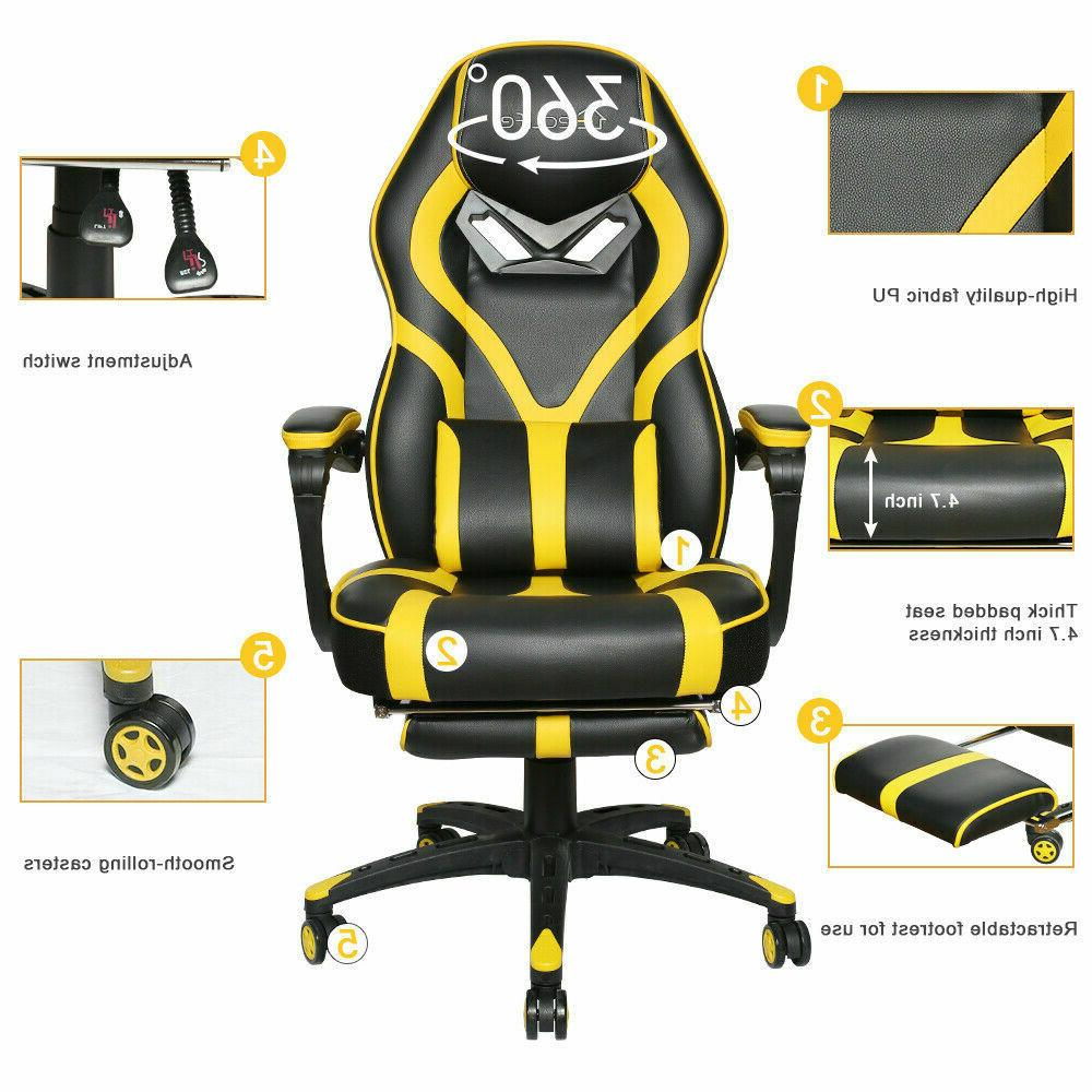 Gaming Recliner Computer Seat Swivel