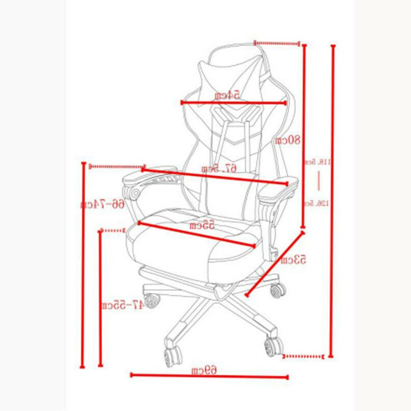 Gaming Office Recliner Computer High-Back Seat Swivel