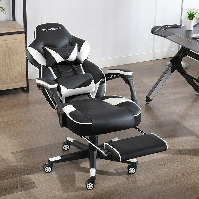Gaming Chair Racing Leather Office High-Back