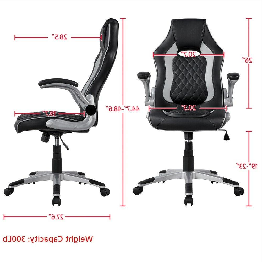 Gray Executive Office Gaming Office Furniture Lift Arm Rest