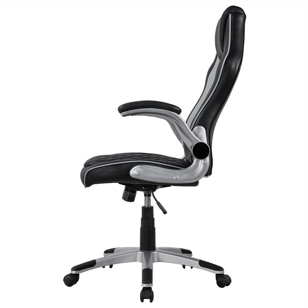 Gray Executive Office Chair Gaming Lift